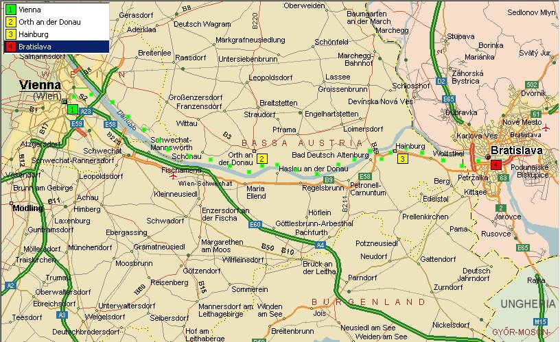 Cartina Fisica Austria.Cicloturismo In Austria Slovaccia Ungheria Bosnia