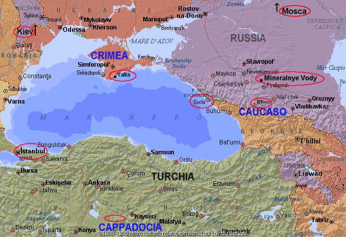 Cartina Geografica Russia Ucraina.Viaggio In Russia Ucraina Turchia Caucaso Crimea Cappadocia Sito Sputnik