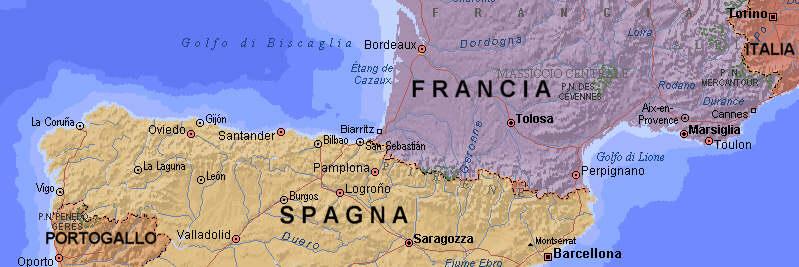 Cartina Spagna E Francia.Tappe Da Torino A Capo Finisterre In Bici Francia E Spagna In Bicicletta Cicloturismo In Europa Sito Sputnik