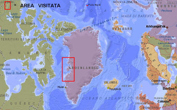 Cartina Geografica Della Groenlandia.Groenlandia Trekking Nella Disko Bay Navigazione In Groenlandia Occidentale Sito Sputnik