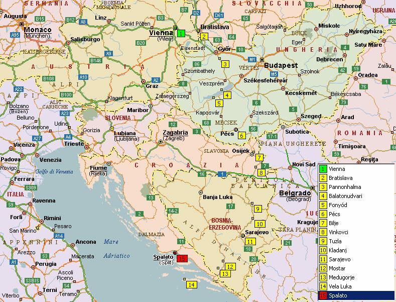 Cartina Michelin Croazia.Cicloturismo In Austria Slovaccia Ungheria Bosnia Croazia Ciclabile Del Danubio E Balcani In Bici Cicloturismo In Europa Centrale E Orientale Sito Sputnik
